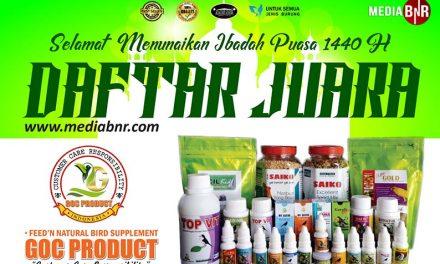 Daftar Juara Exclusive Halal Bihalal BTC, Den Jasa Ang – Bandung (15/6/2019)