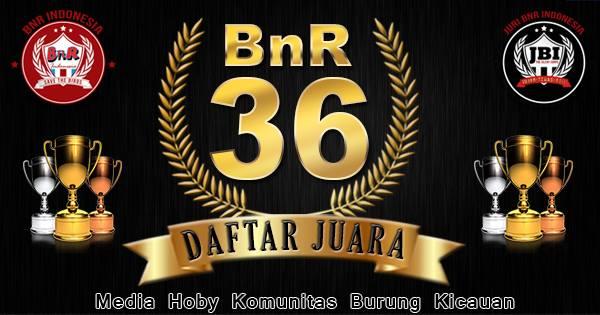 Daftar Juara BnR 36 Bintang Jagad (16/11/2016)