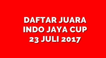 daftar juara indo jaya cup