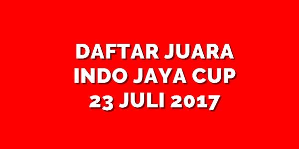Daftar Juara Indo Jaya Cup (23/7/2017)