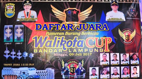 Daftar Juara Walikota Cup Lampung (9/7/2017)