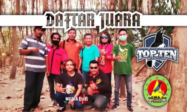 DAFTAR JUARA LATBER TOP TEN feat DEWA 99 (20/10/2021)