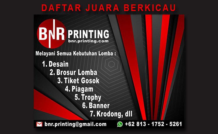 Daftar Juara Pra Launching BnR Bandung Barat, Padalarang (8/9/2019)