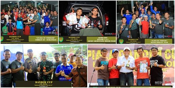 Sukses Raih Antusias, Depok Bersatu BC dan Gibran SF Juara Terbaik di Dandim Cup Kab. Bogor