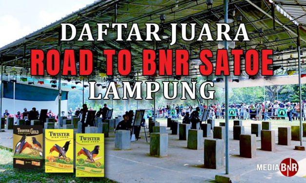 Daftar Juara Road To BnR Satoe Cup – Lampung (30/8/2020)