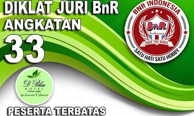 Diklat Juri Angkatan 33 BnR Indonesia