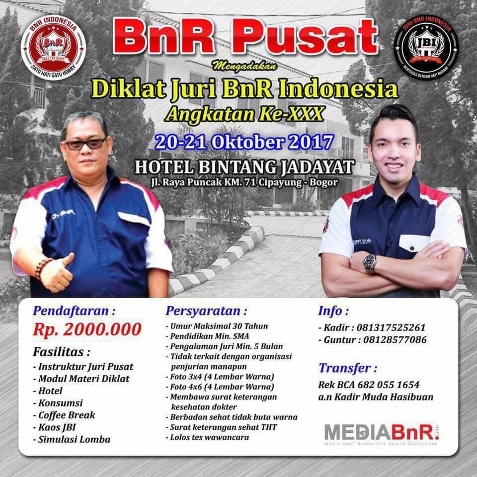 Diklat JBI 20 Oktober 2017 di Cipayung – Bogor