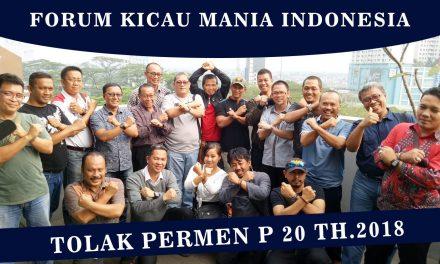 TOLAK PERMEN 20/2018, Forum Kicau Mania Indonesia Gelar Aksi Damai 14 Agustus 2018