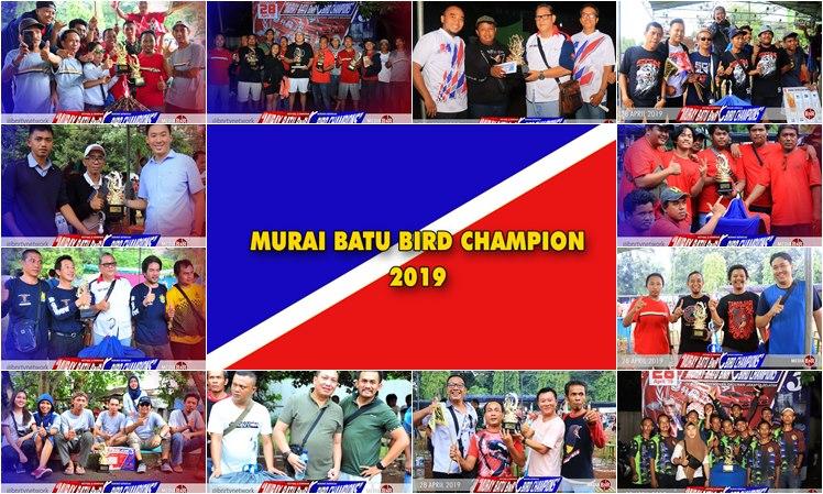 Murai Batu Bird Champion 3 Ajang Pesta Murai, Mr. JOSS SF dan SGN BC raih Juara Umum