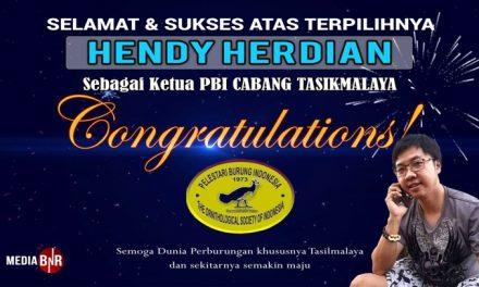 Selamat Atas Terpilihnya Hendy Herdian Sebagai Ketua PBI Cabang Tasikmalaya