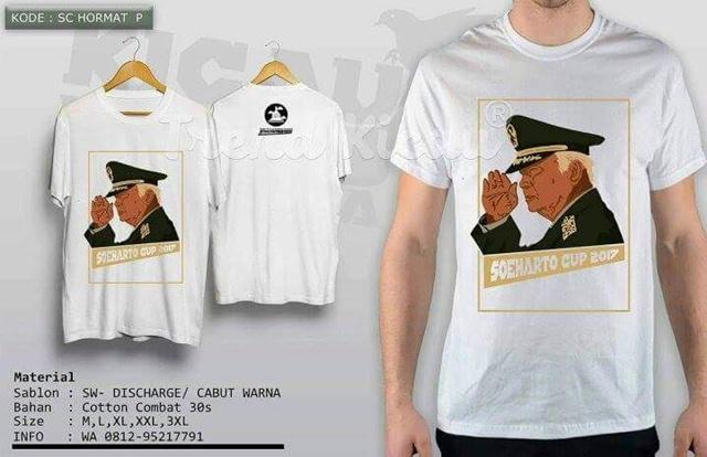Official T-shirt Soeharto Cup IV, Wajib di Koleksi