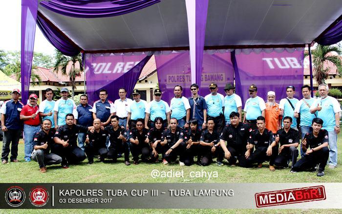 kapolres Tuba photo bersama creww Kapolres Tuba Cup III dan JBI serta OBI Lampung
