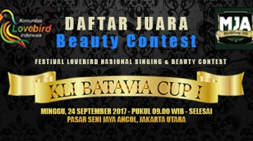 kli batavia cup beauty contest