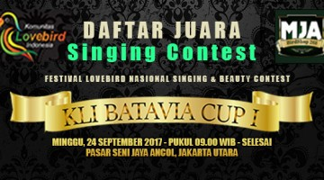 kli batavia cup singing contest
