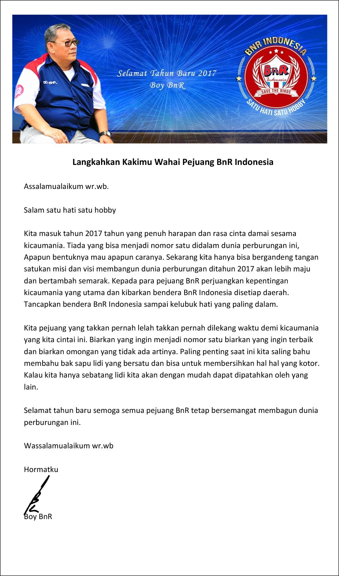 langkahkan kakimu wahai pejuang bnr indonesia