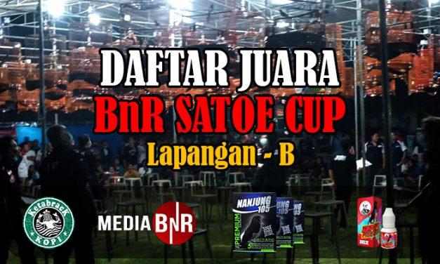 DAFTAR JUARA BNR SATOE CUP 2020 (LAP-B)