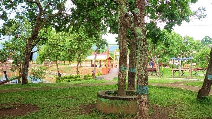 Objek wisata taman pramuka pulau belibis solok
