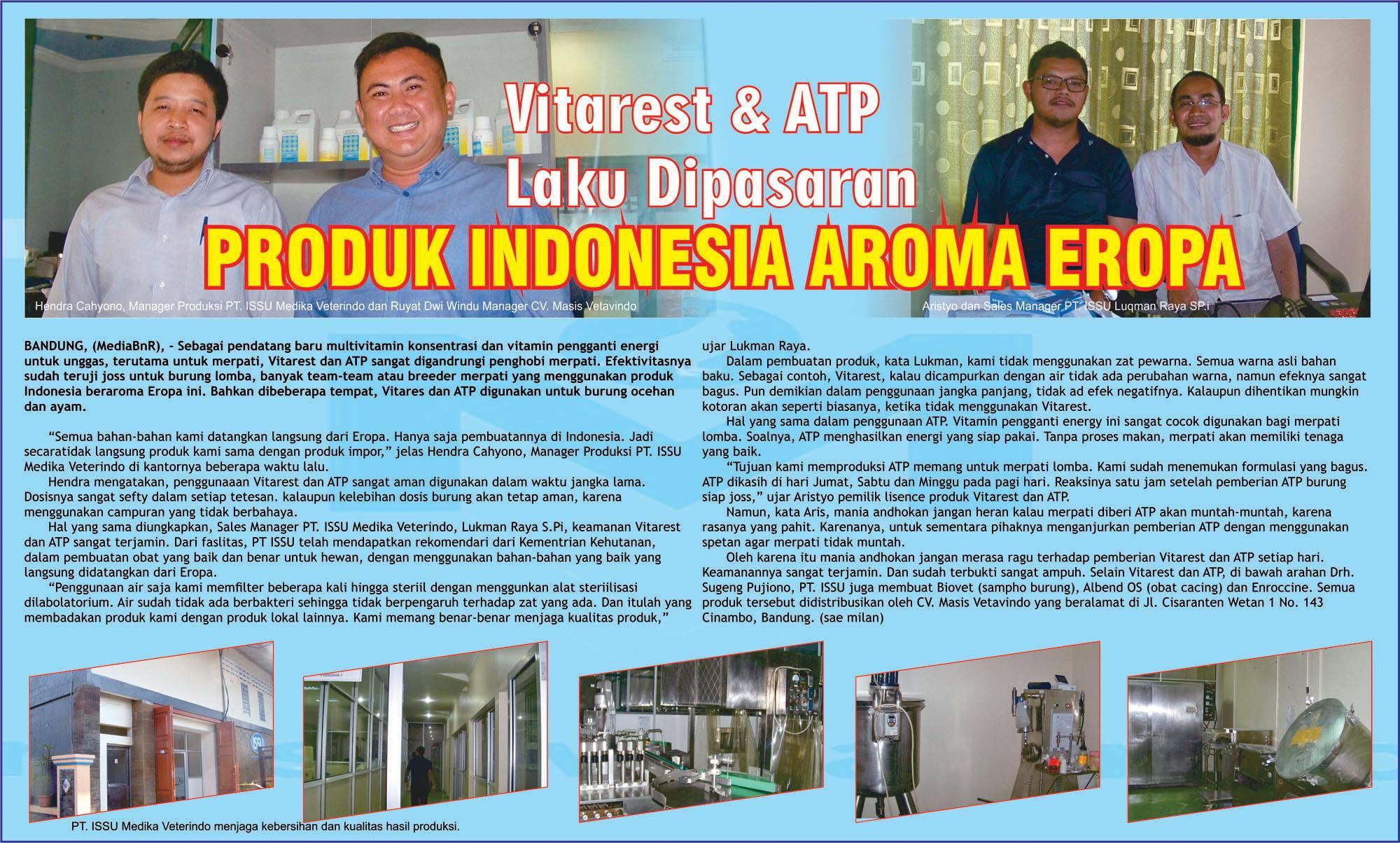 Vitarest & ATP Laku Dipasaran, Produk Indonesia Aroma Eropa
