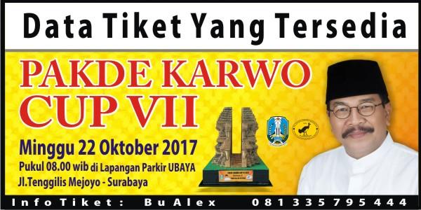 Info : Tiket Yang Masih Tersedia di Pakde Karwo Cup VII