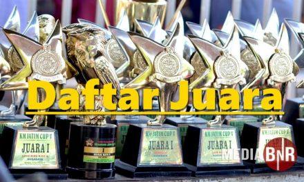 Daftar Juara KM Jatim Cup V – Sidoarjo (4/8/2019)