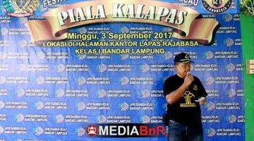 pidato pembukaan yang disampaikan Plt Kalapas kelas 1 Rajabasa Pak Giono