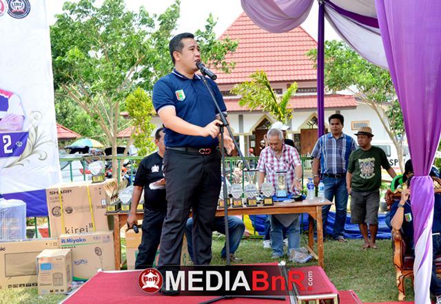 sambutan dari Bupati Pesawaran Bapak H. Dendy Ramadhona, S.T