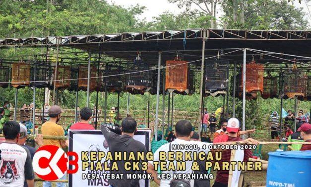 Lovebird Ravi, Mat Pelor dan Rosela Rajai Di Setiap Kelas Lovebird Di Piala CK3 Team Dan Partner