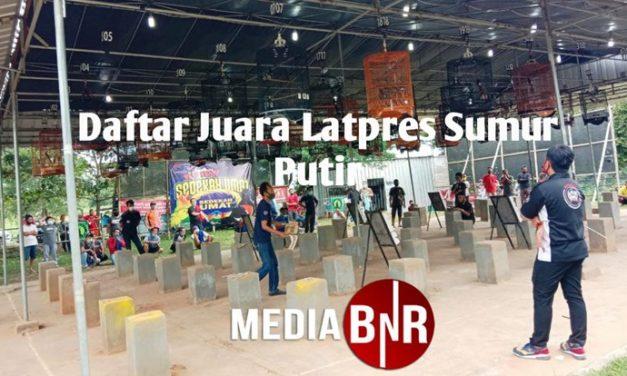 Daftar Juara Latpres Sumur Putri – Lampung  (30/10/2020)