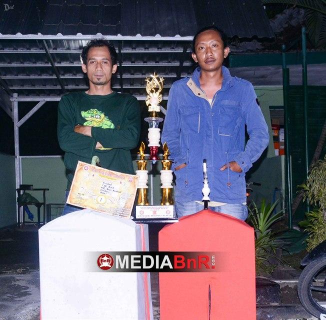 tim Agus Bendrat dari Holdem cukup sukses raih juara BOB juara 1 dengan gaco andalan cucak ijo BENDRAT