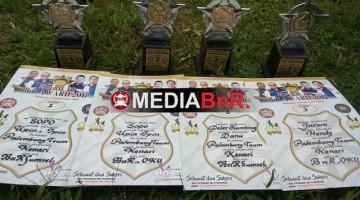 trophy dan piagam yang berhasil diraih King's Man di ROad TO BnR Award Baturaja