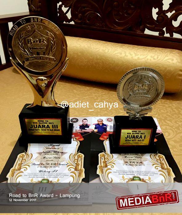 trophy terakhir yang diraih jimat di evet Road to BnR Award Lampung