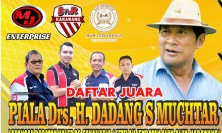 Daftar Juara Piala Drs. H. Dadang S. Muchtar – Karawang (2/12/2018)